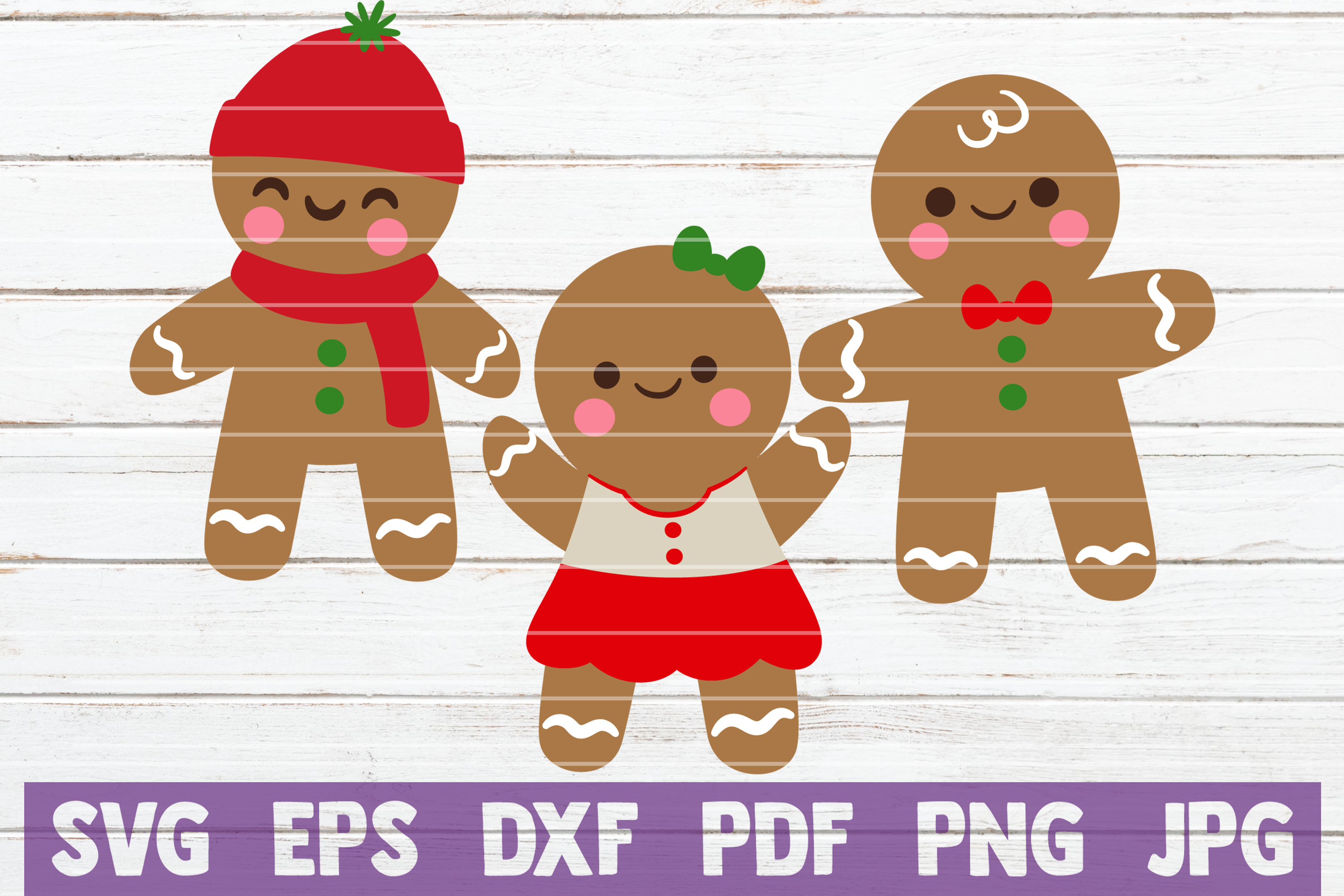 Gingerbread SVG Cut Files example image 1