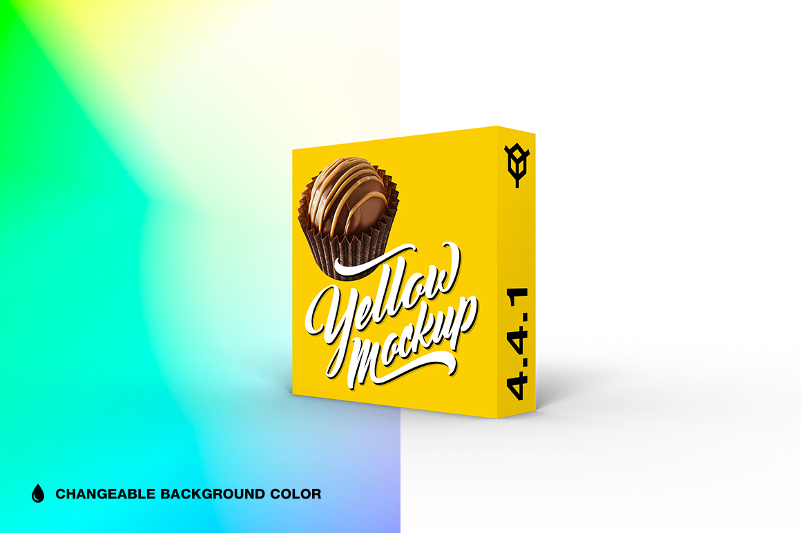 4.4.1 Simple 3D Box Mockup PSD example image 1