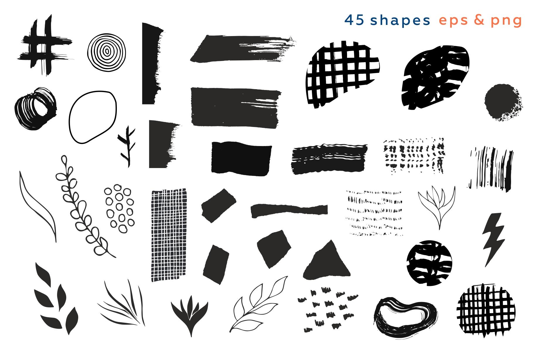 Shake this art! Collage pattern set. example image 9