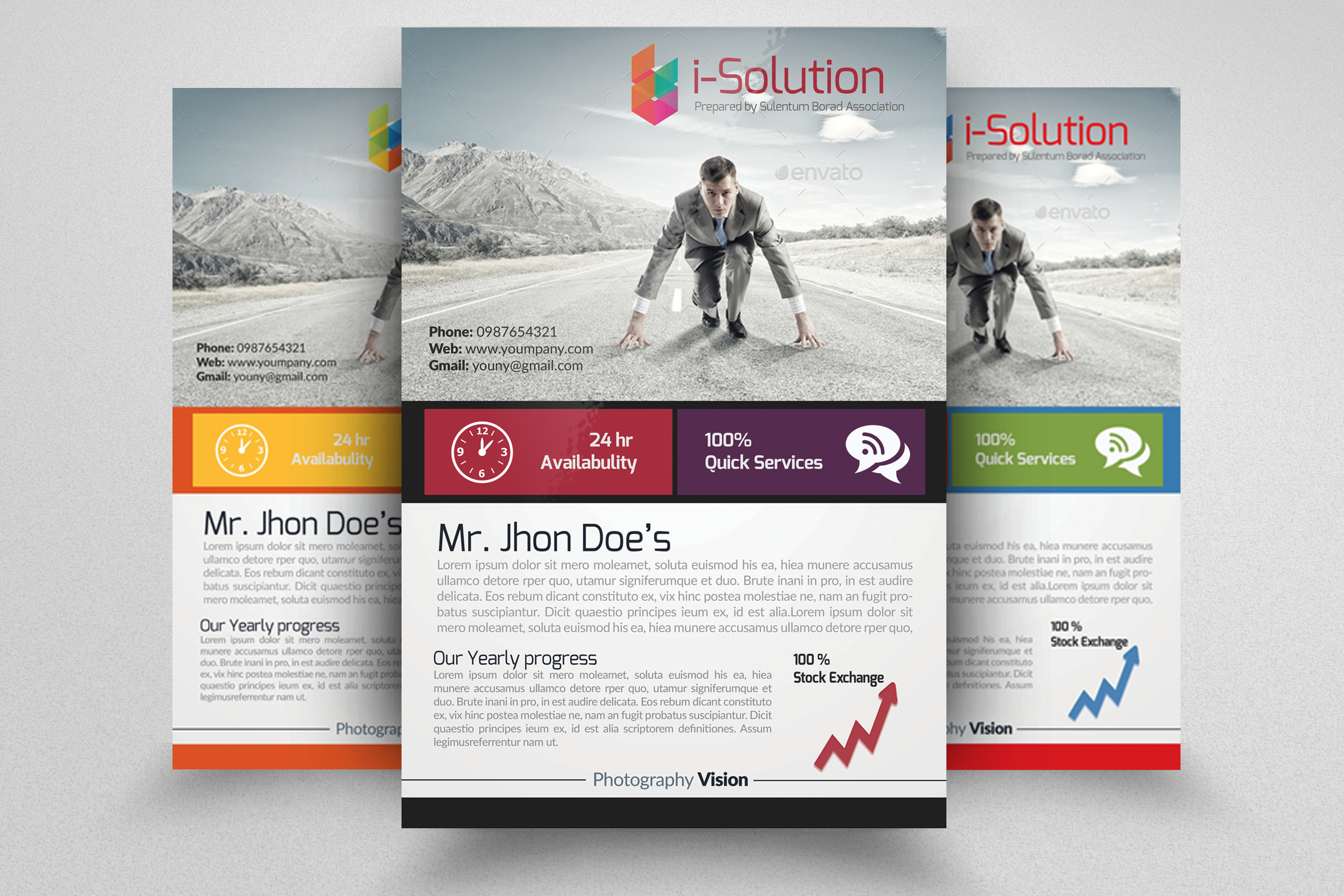 7 Corporate Business Flyers Bundle example image 3