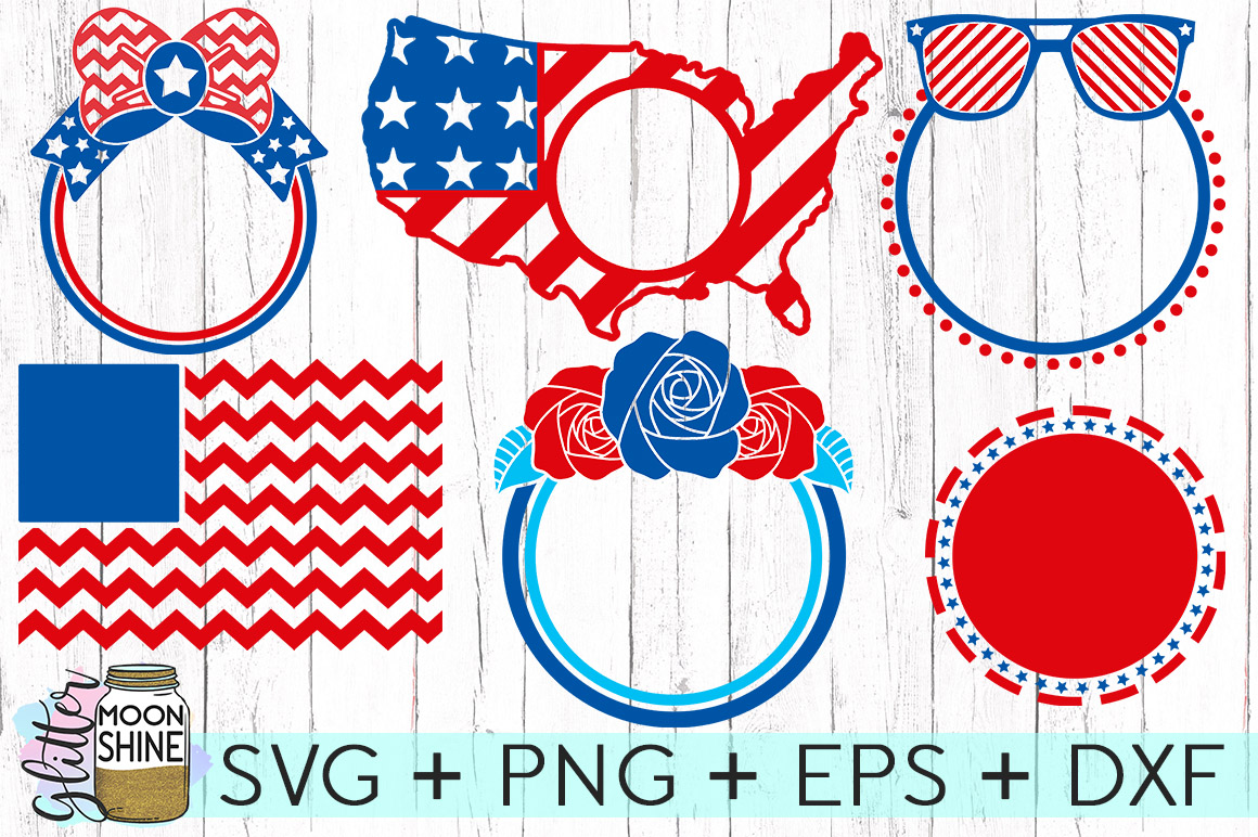 Huge 4th Of July Design Bundle of 23 SVG DXF PNG EPS Cutting Files example image 2
