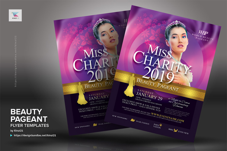 Beauty Pageant Flyer Templates example image 4