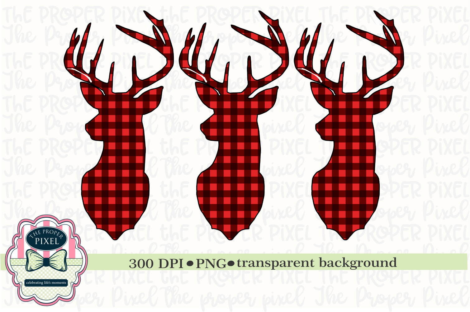 picture regarding Deer Printable called Deer Design and style Buffalo Plaid Xmas Sublimation Printable