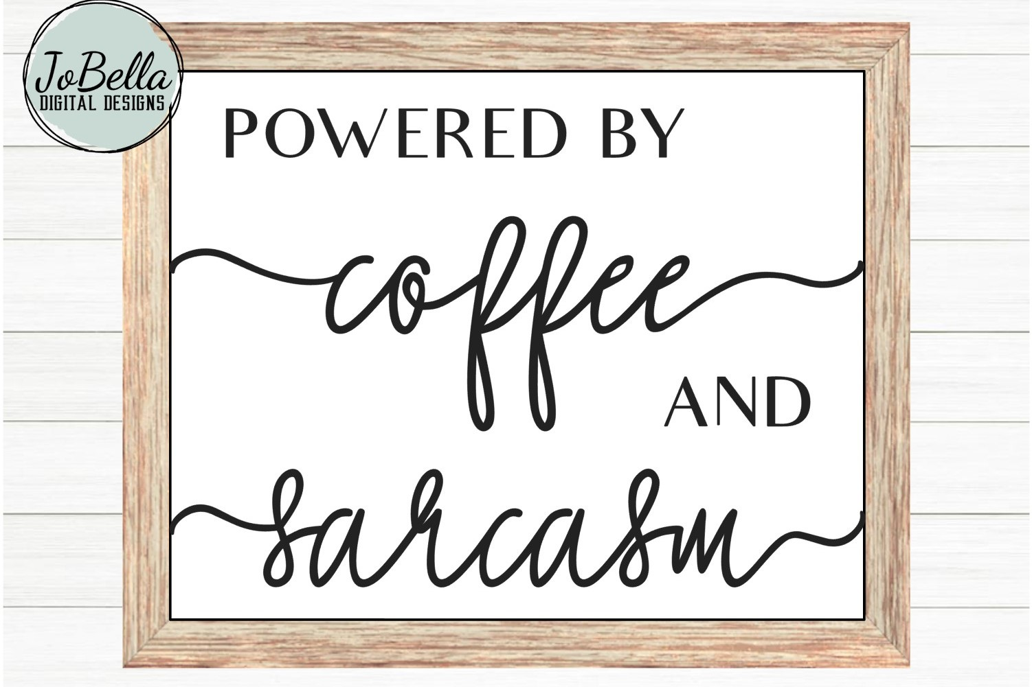 Powered by Coffee and Sarcasm SVG and Printable example image 3