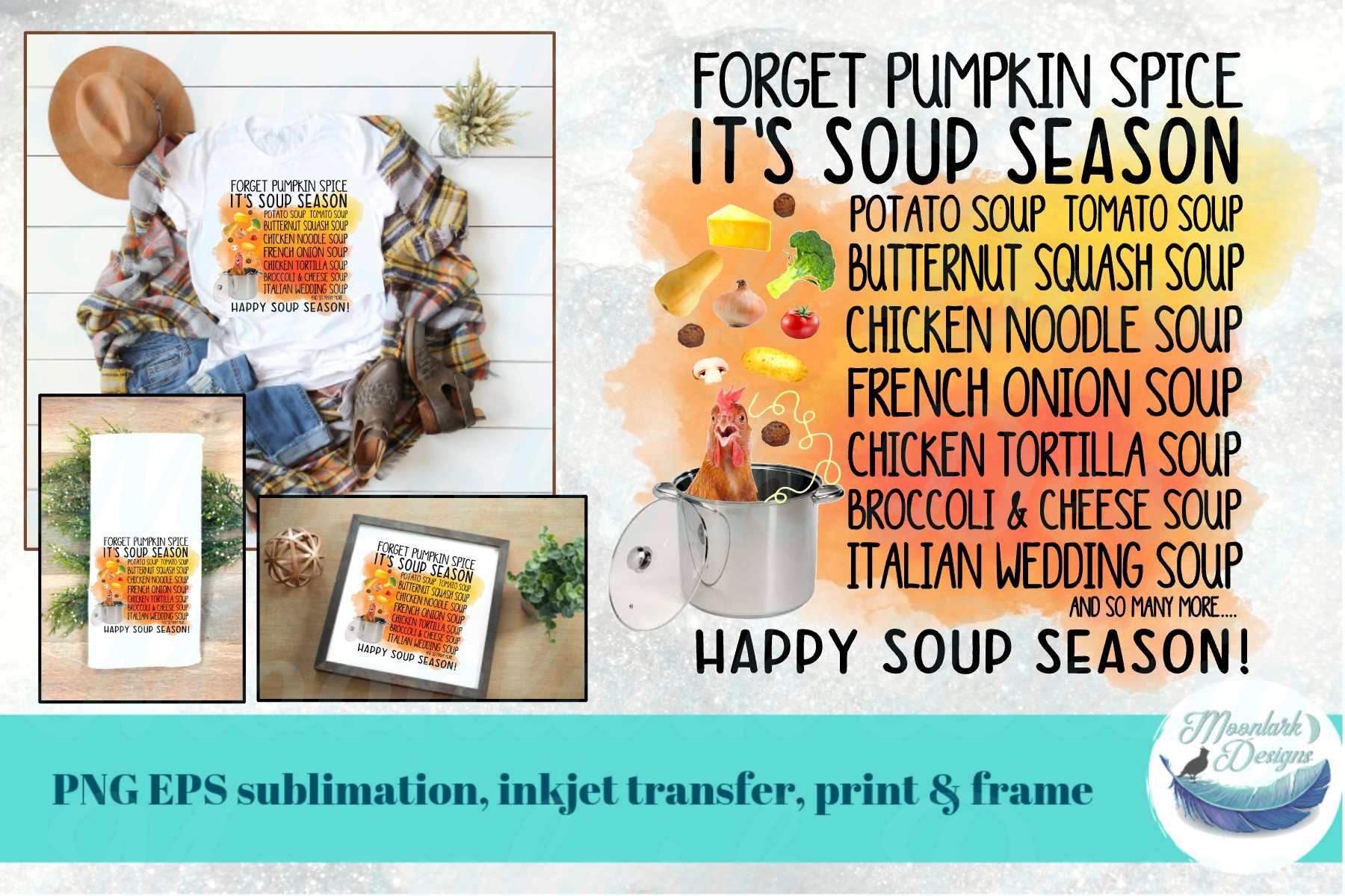 Forget Pumpkin Spice. It's Soup Season! | chicken noodle PNG example image 1