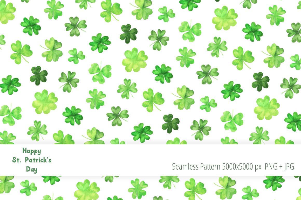 Watercolor St Patricks Day Collection example image 4