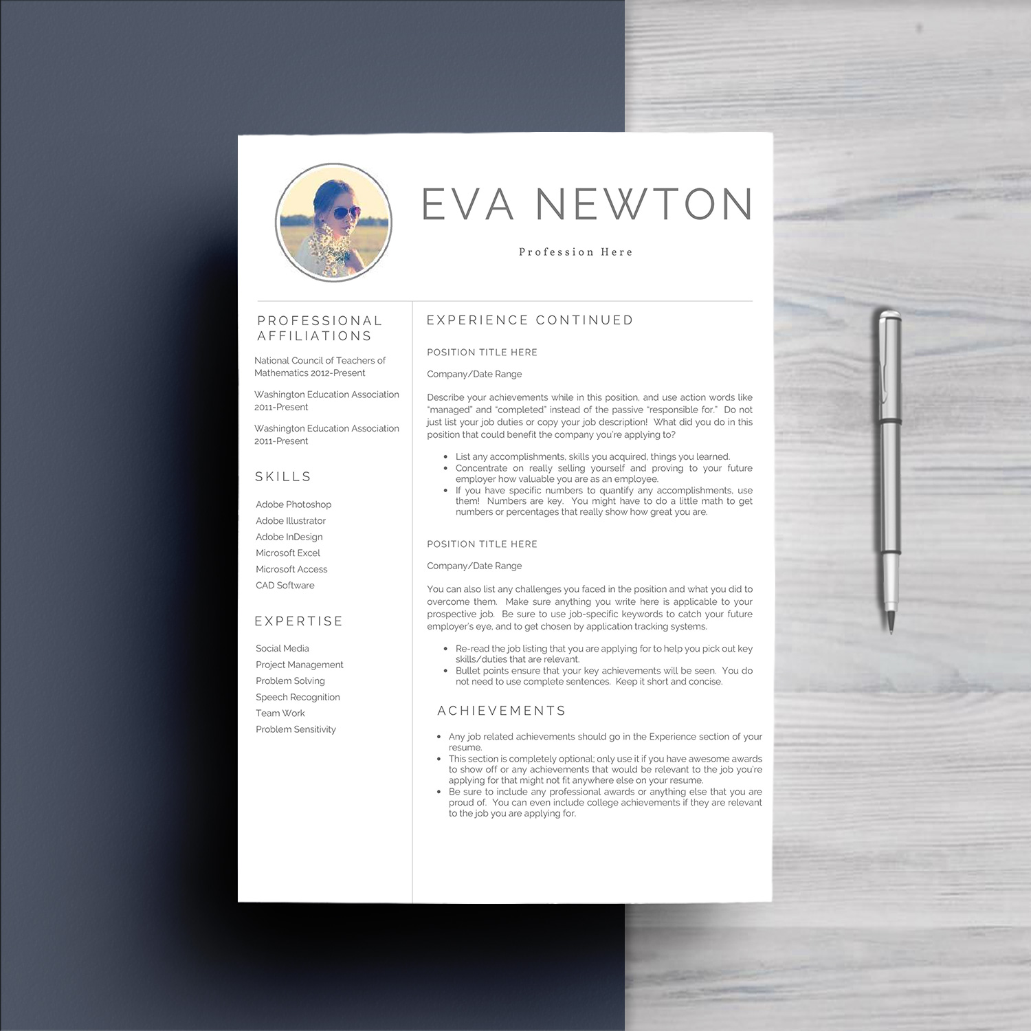 Resume Template 4 Pages example image 3