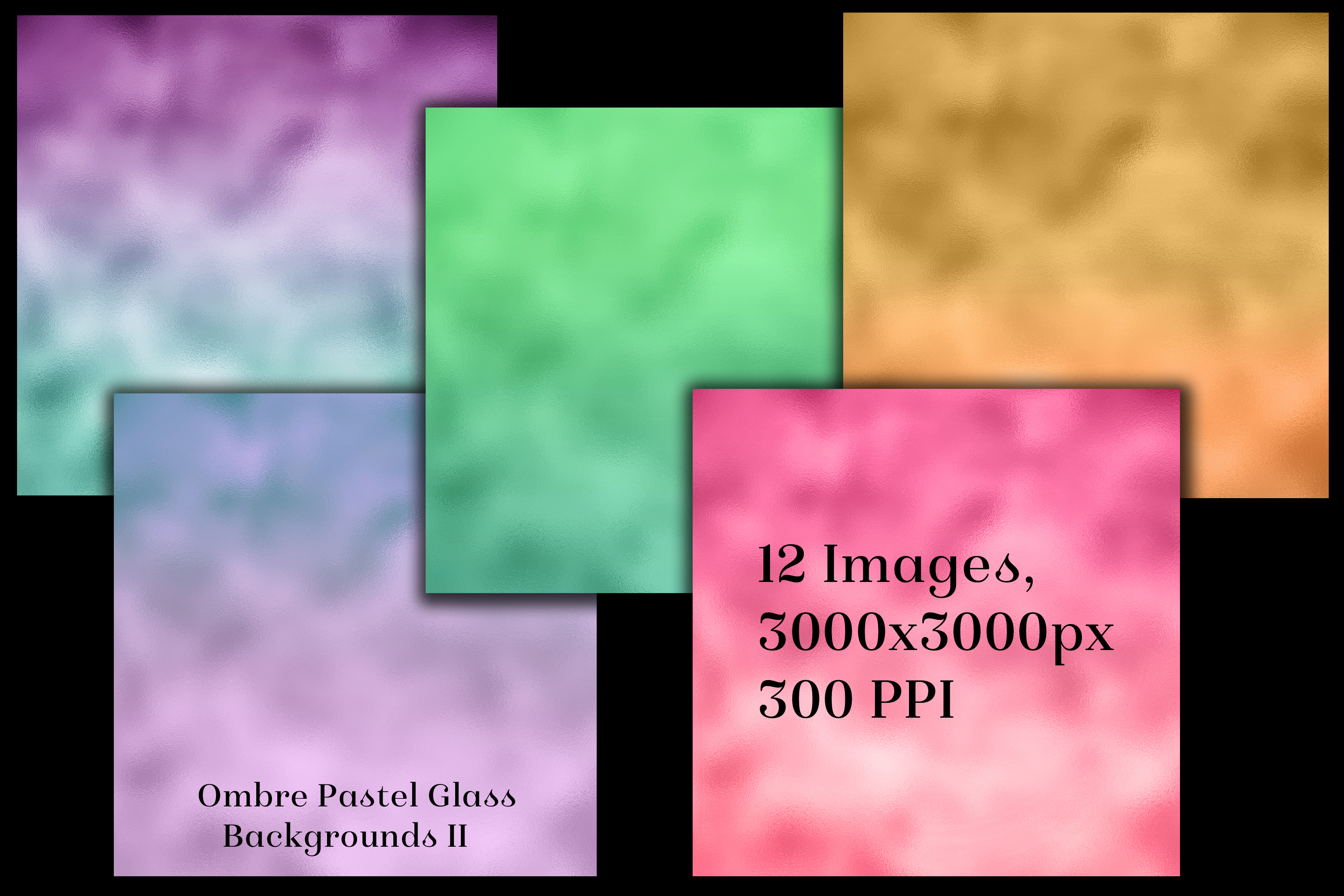 Ombre Pastel Glass Backgrounds II - 12 Image Textures Set example image 2