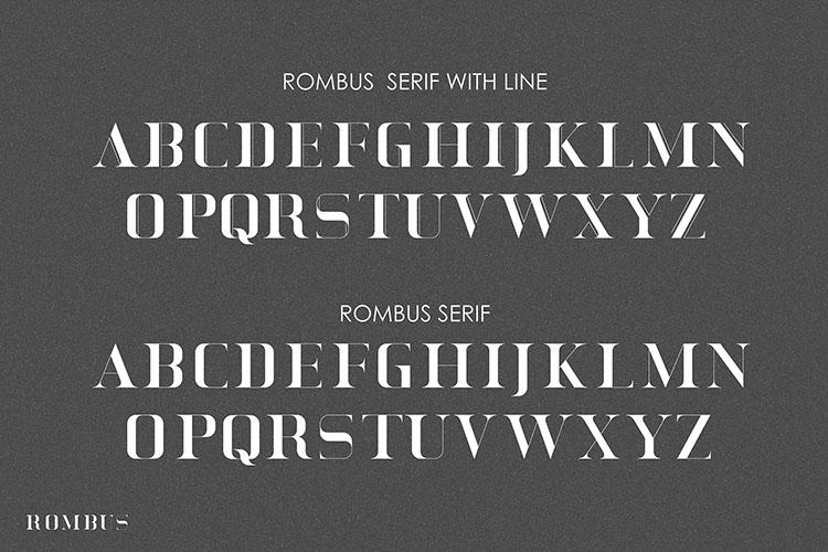 Rombus Modern Serif Font example image 5