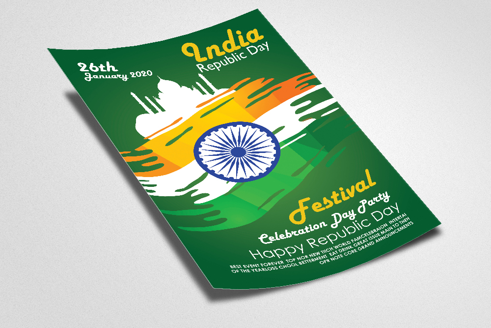 Indian Rebublic Day Festival Flyer Template example image 2