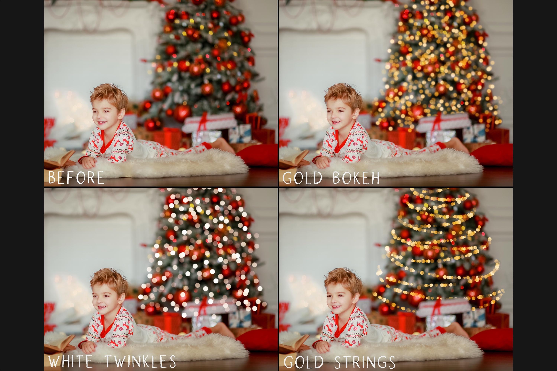 Christmas tree bokeh overlays example image 4