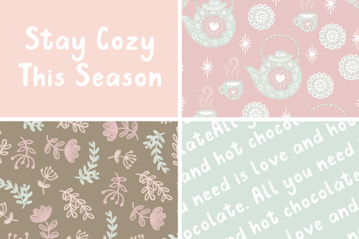 Douillet Font with Hygge Clipart! example image 4