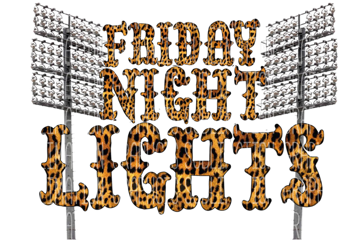 Friday Night Lights Sublimation Digital Download example image 1