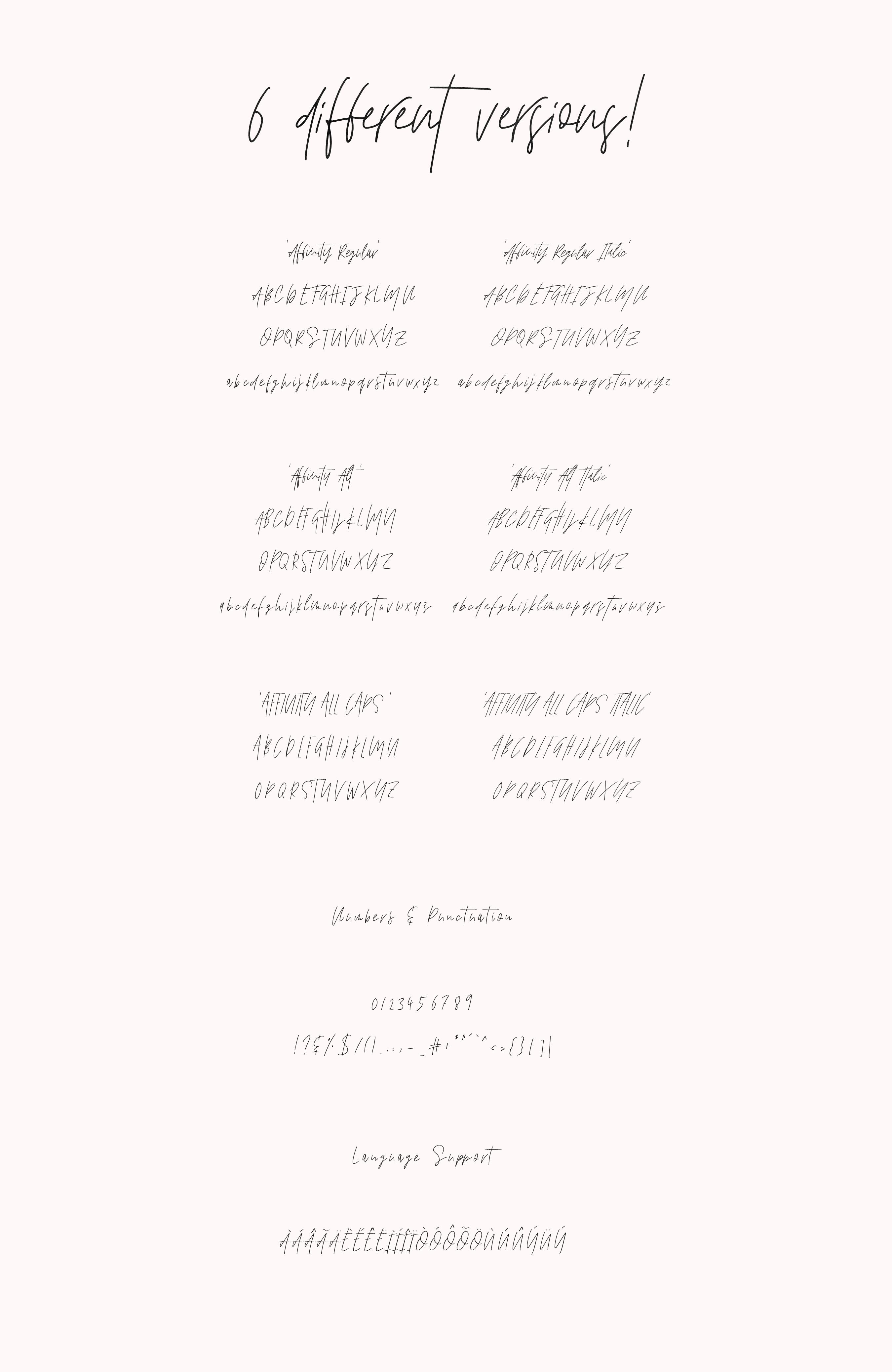 Affinity Font Set example image 3