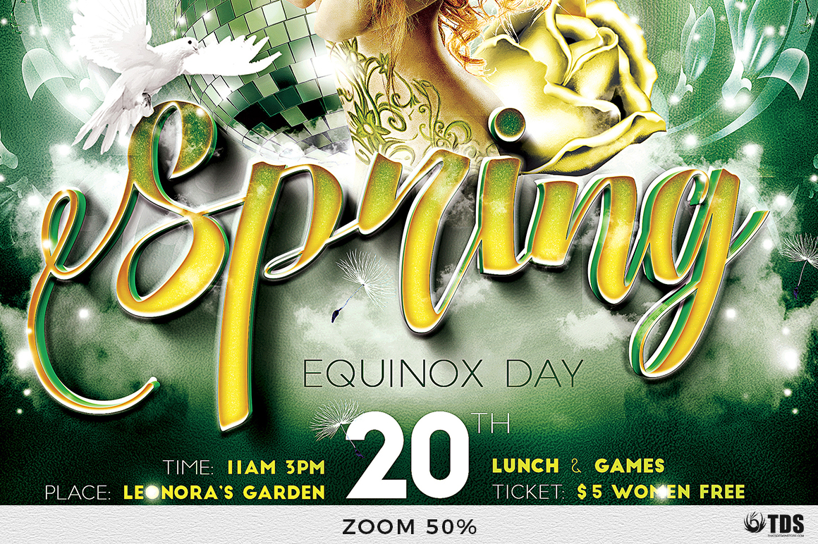 Spring Equinox Flyer Template V2 example image 7
