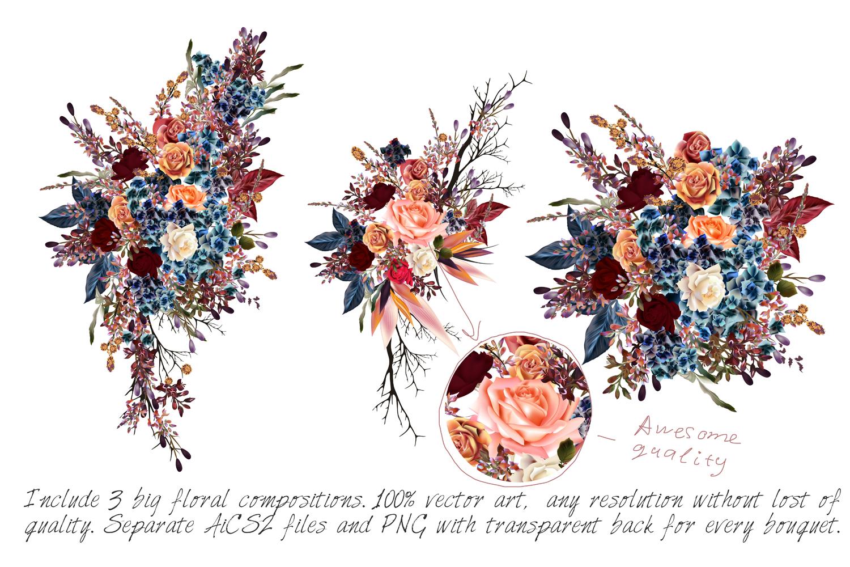 Mega vector floral set example image 5