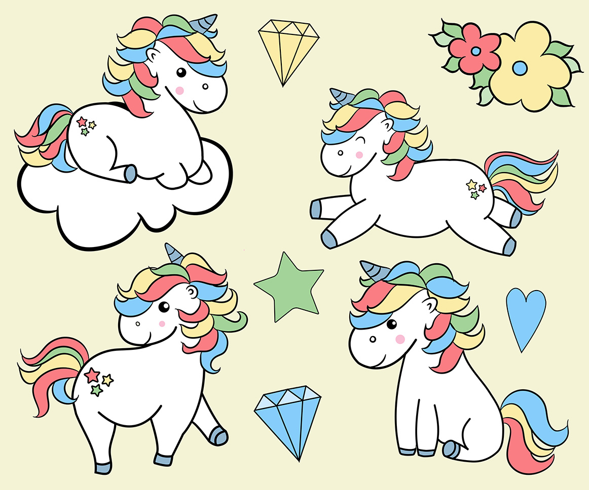 Unicorns clipart example image 2