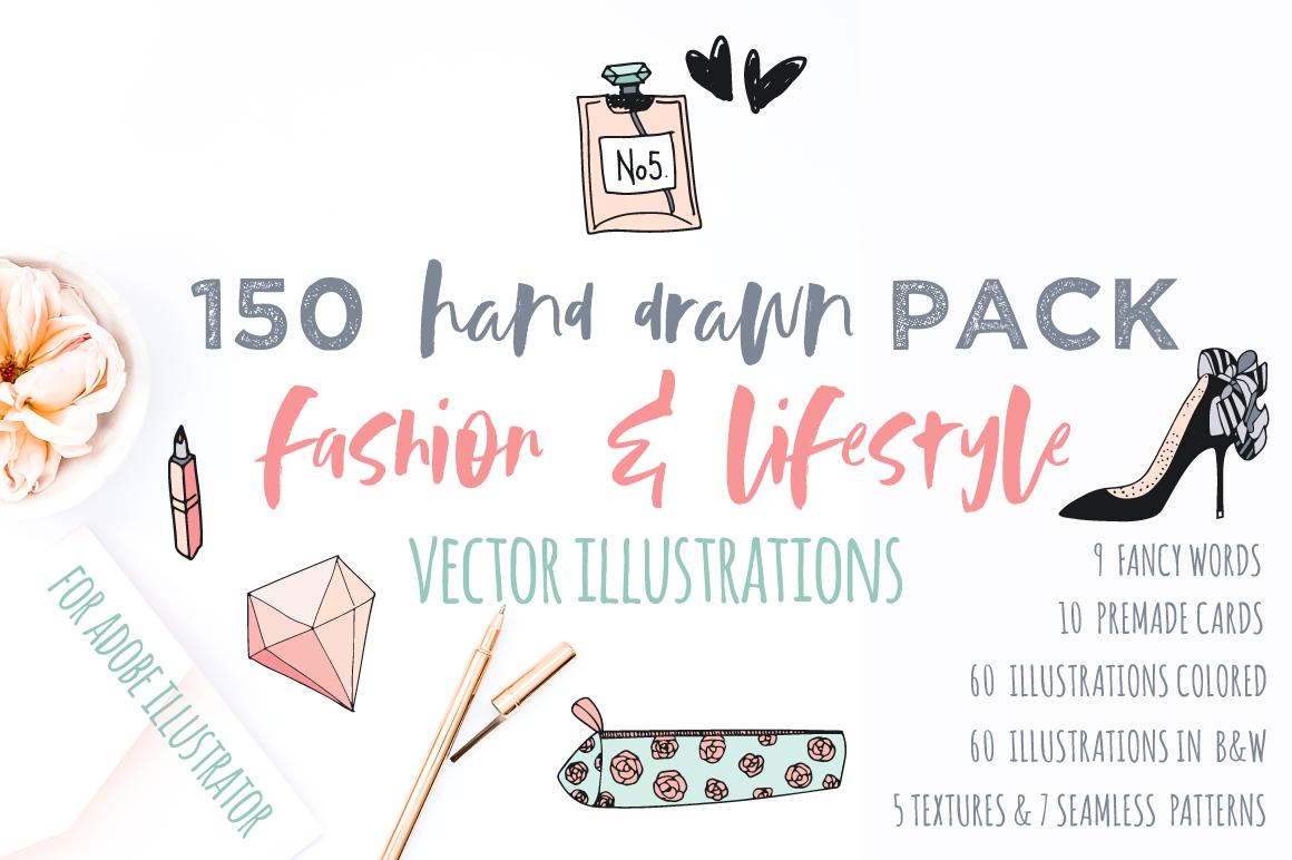 Fashion/Lifestyle illustration pack example image 2