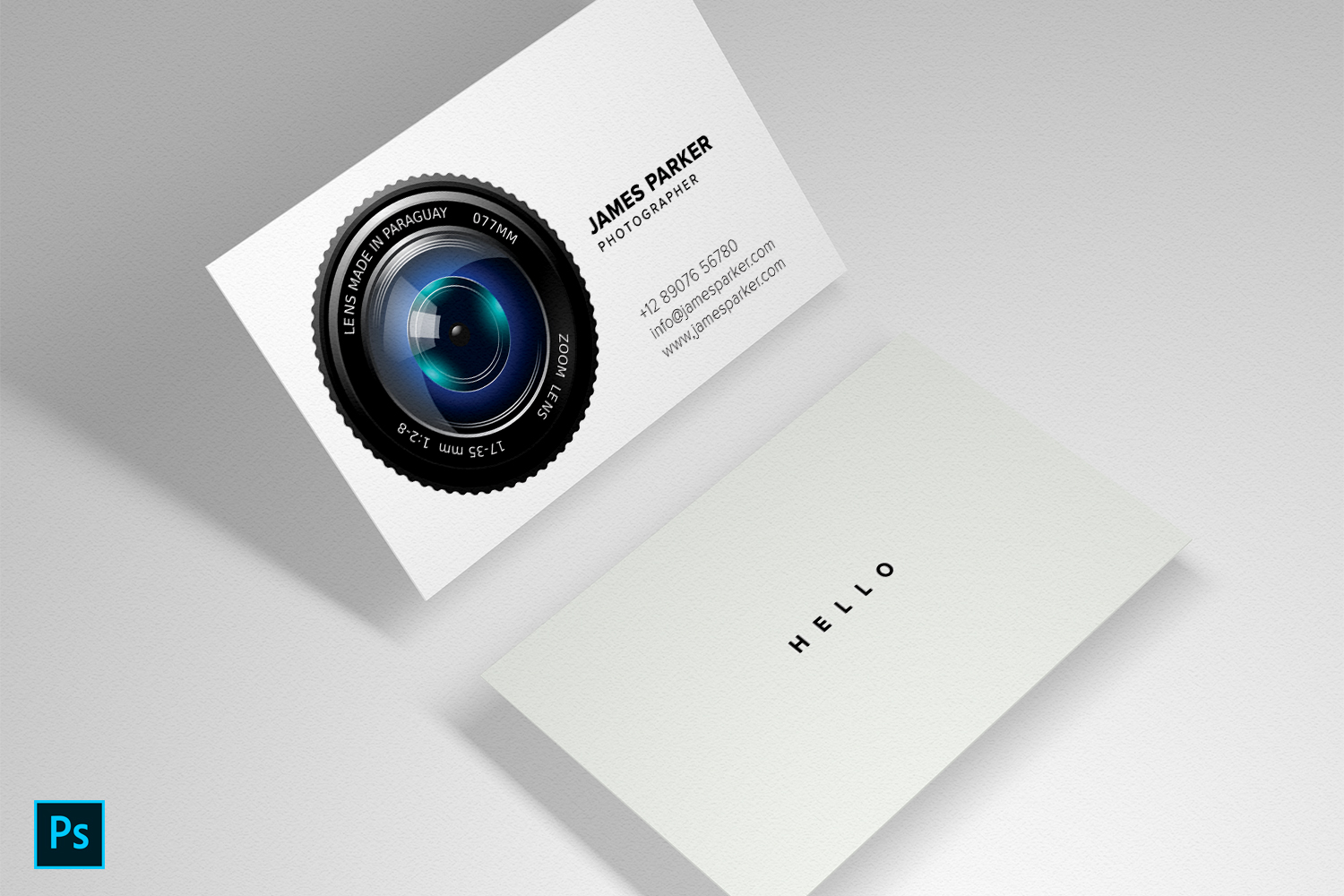 Beautiful Photography Business card example image 2