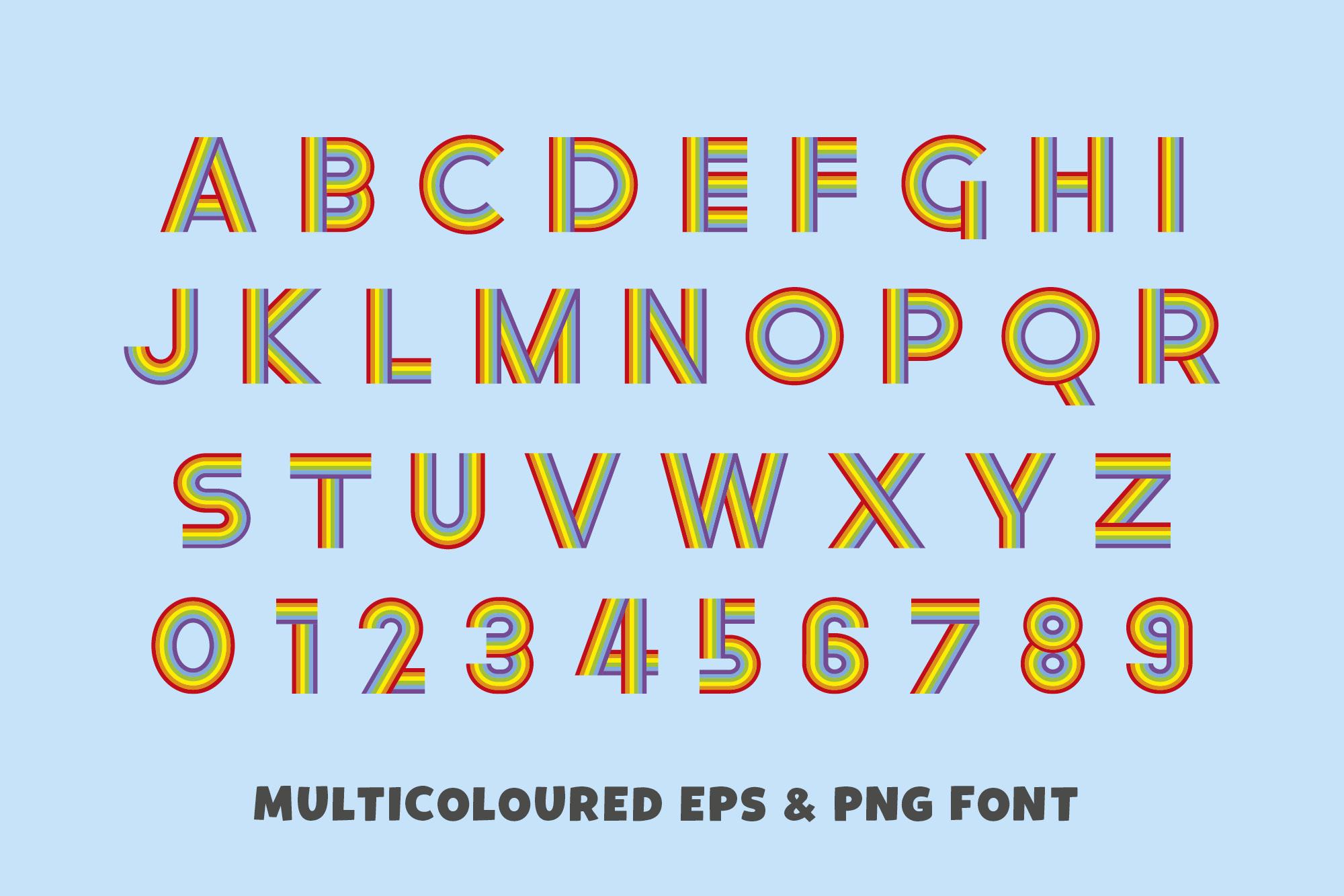 Rainbow Ryder EPS Font example image 2