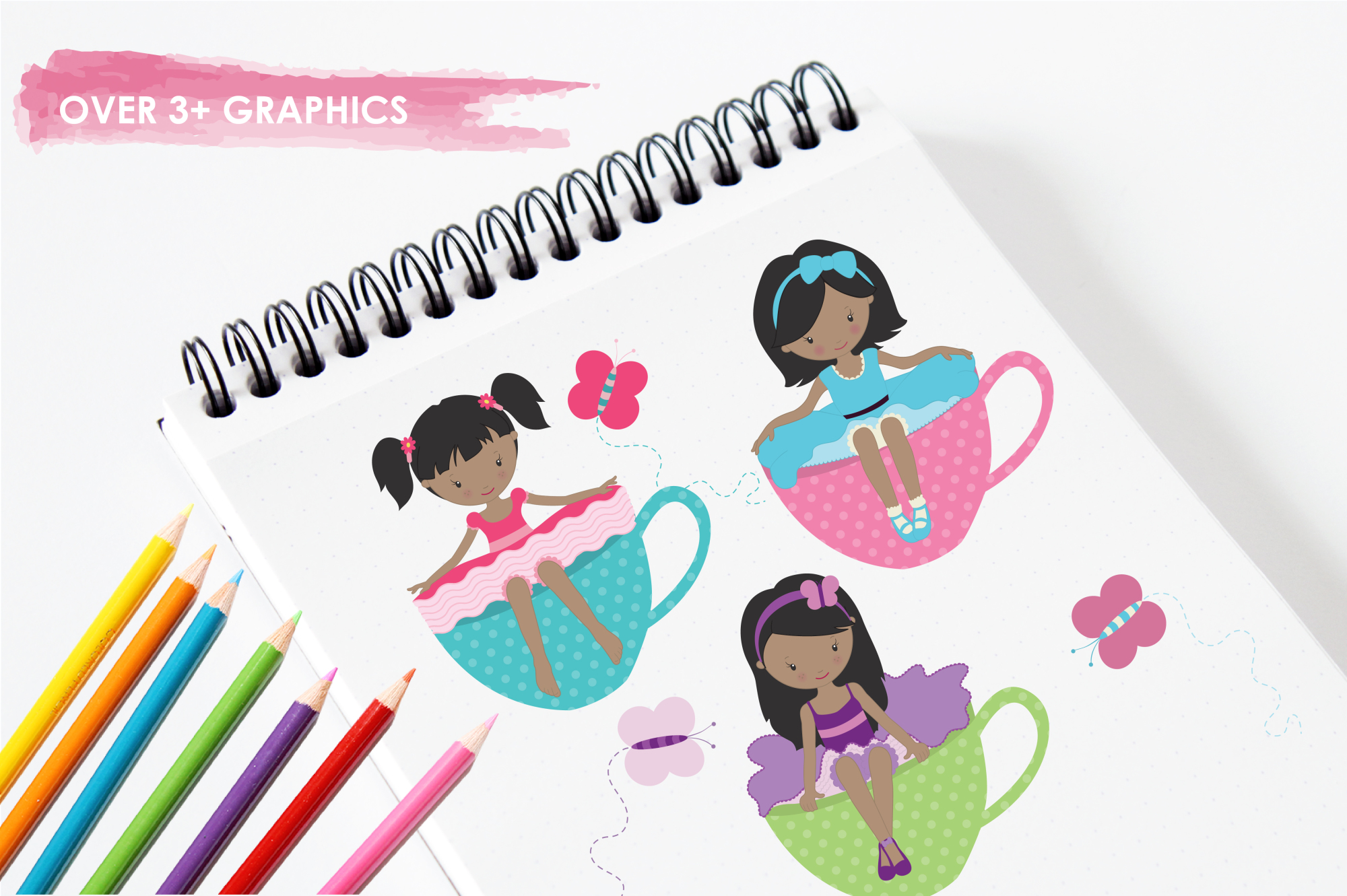 Tea Tot Girls graphics and illustrations example image 3