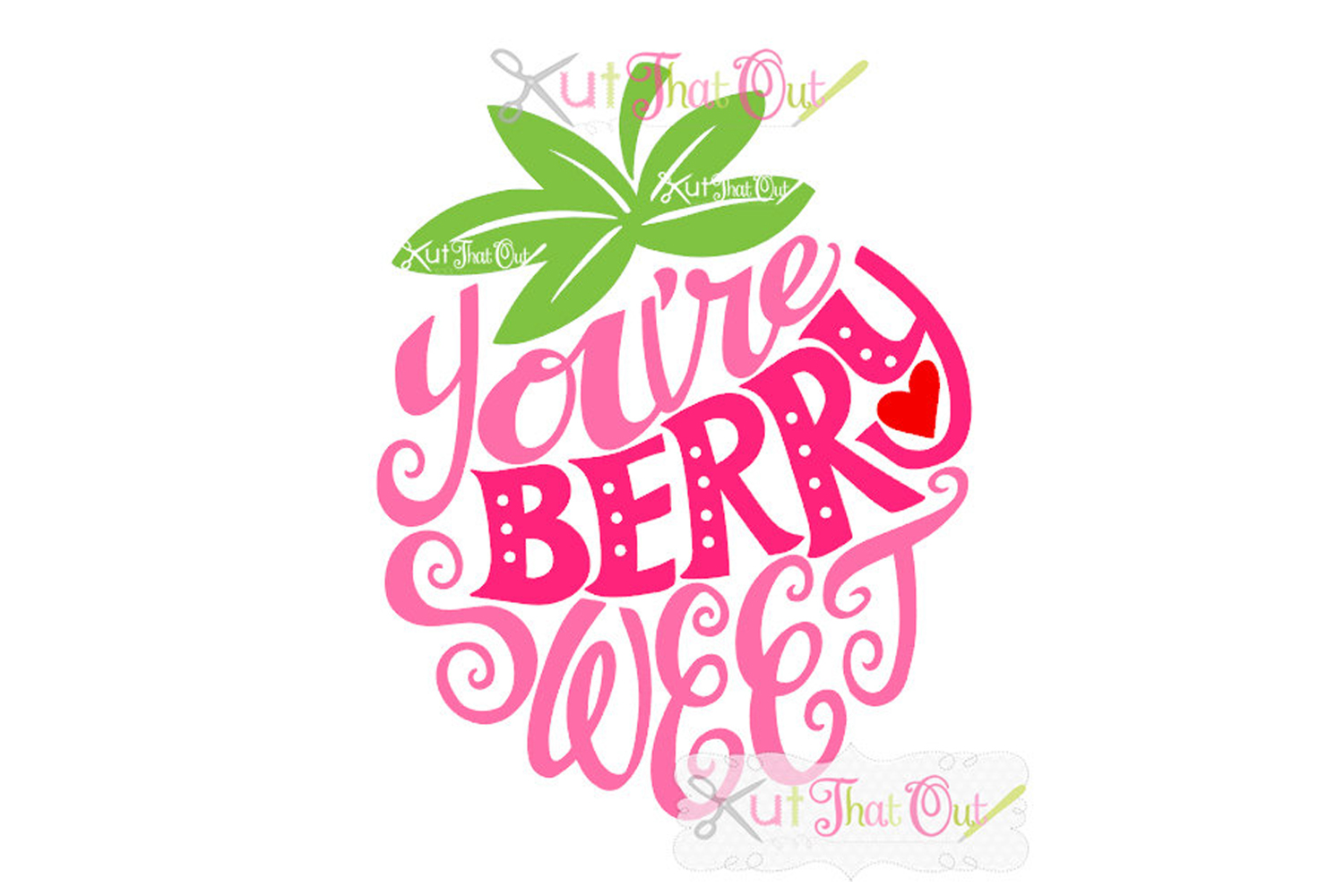 EXCLUSIVE Berry Sweet SVG & DXF Cut File example image 1