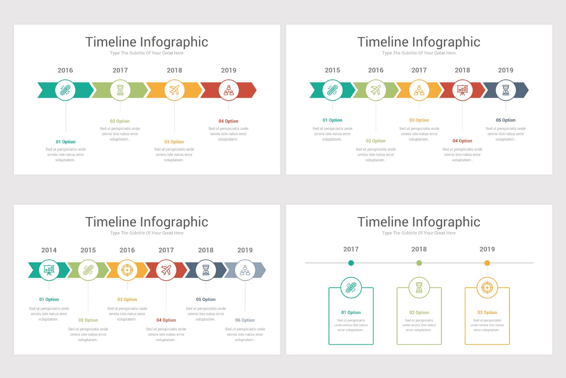 Keynote Timeline Infographics Pack-2 example image 6