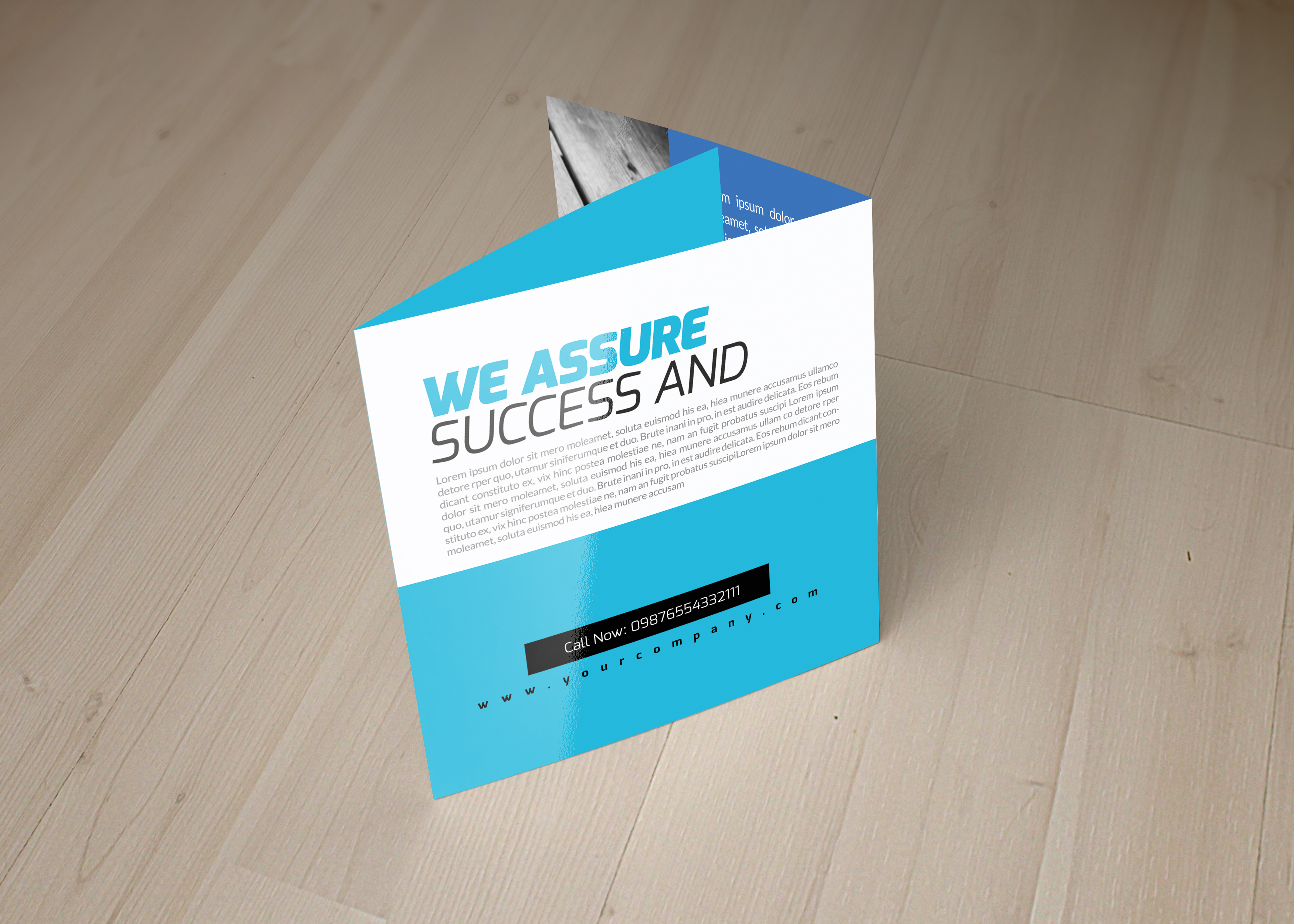 Business Management Square Trifold Brochure example image 2