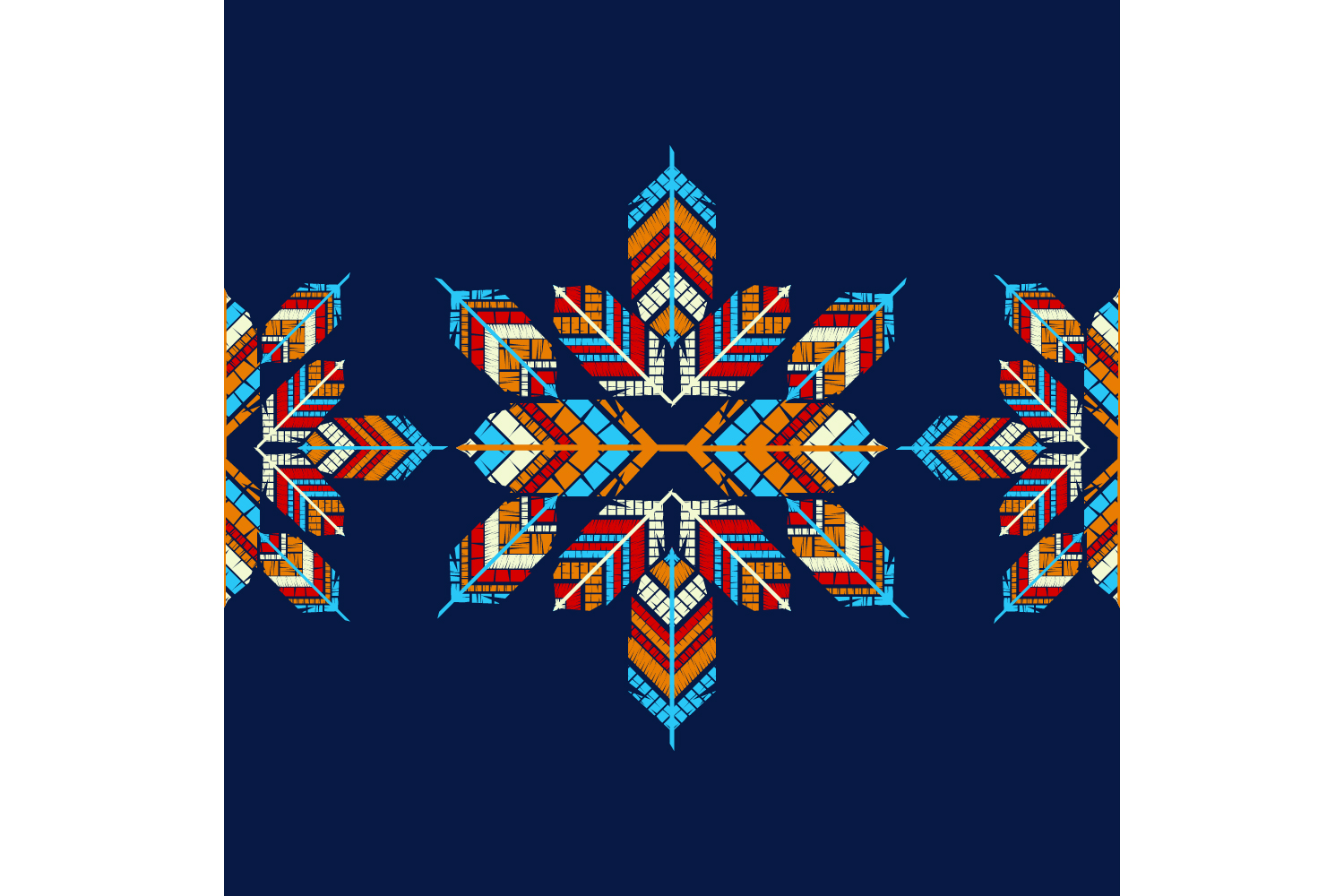 Indian colorful feathers. Set of 10 seamless patterns. example image 7