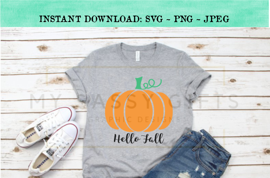 Hello Fall Pumpkin Farm SVG Design example image 2