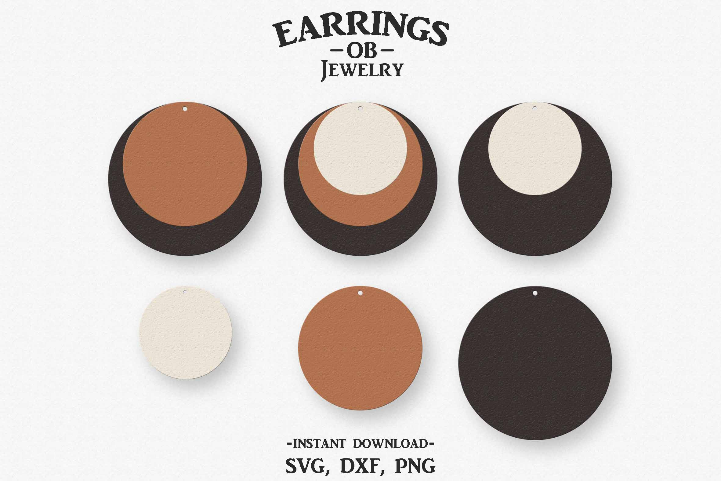 Circle Earring Svg, Teardrop, Stacked, Cut File example image 1