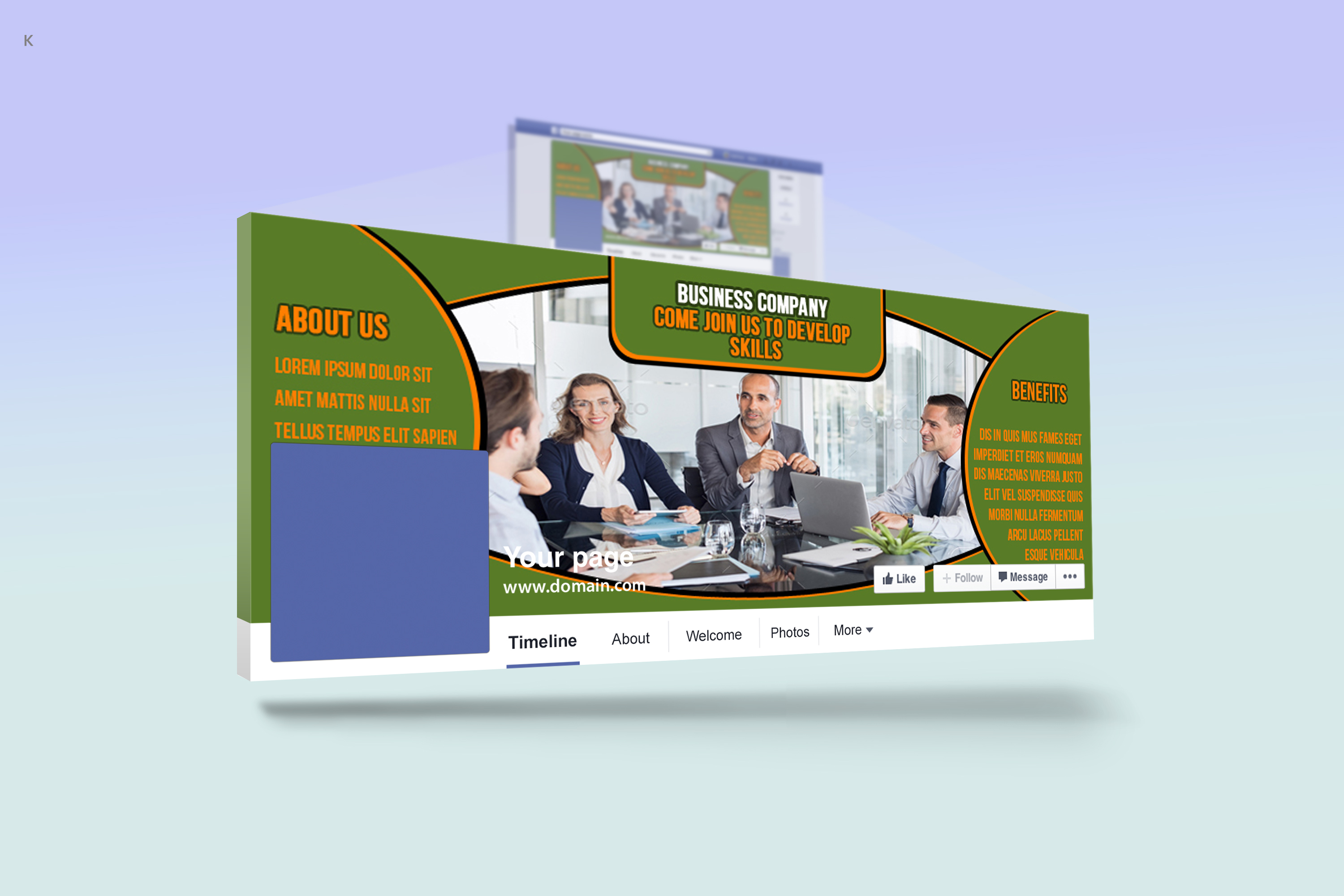 Business Facebook Cover example image 3
