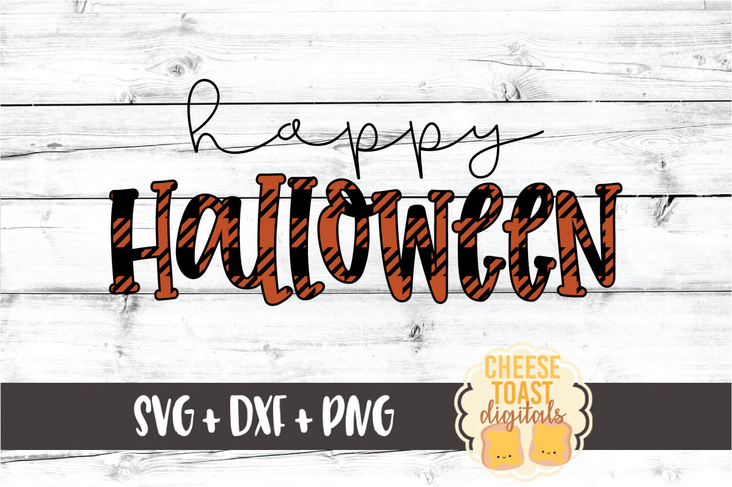 Happy Halloween - Buffalo Plaid SVG PNG DXF Cut Files example image 2
