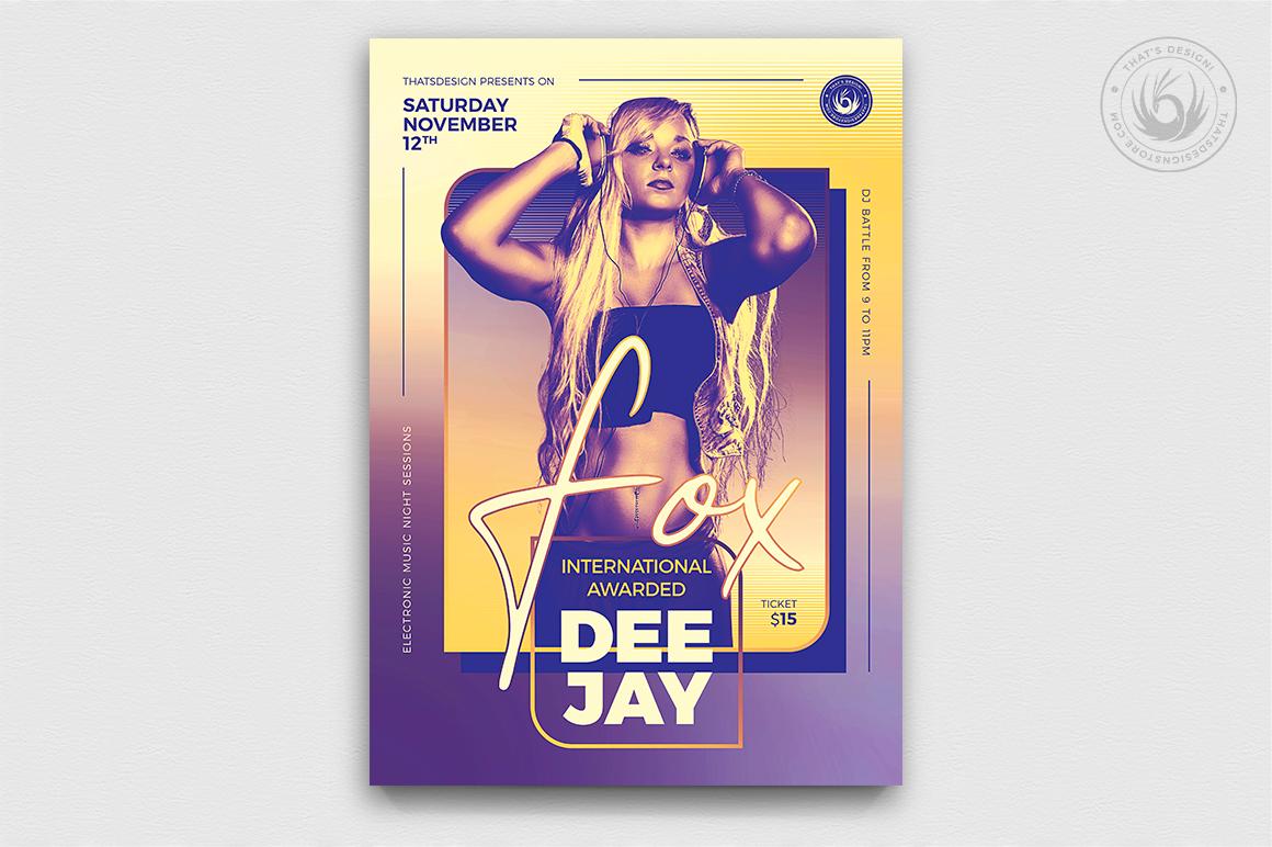 DJ Session Flyer Template V9 example image 1