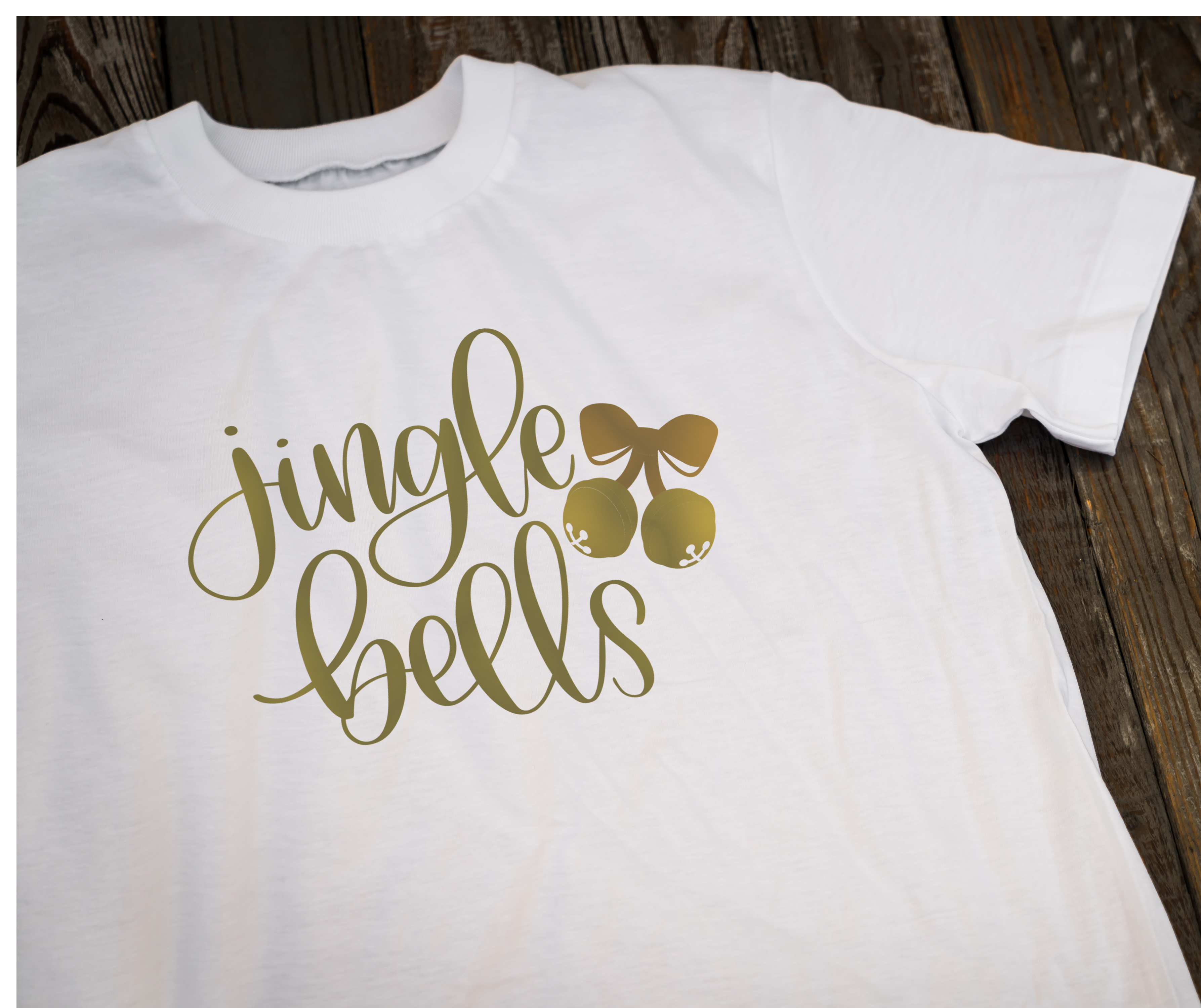 Jingle Bells Hand Lettered SVG example image 1