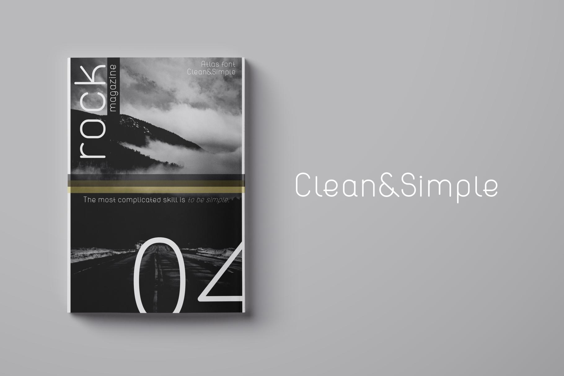 ATLAS clean modern sans typeface. example image 2
