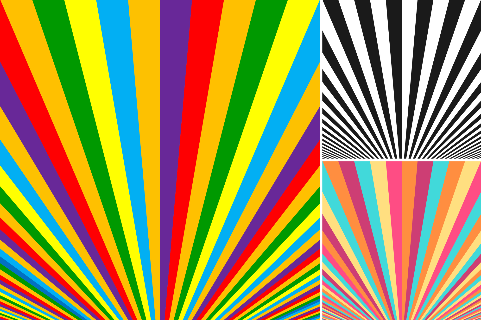 Collection of striped backgrounds. example image 5
