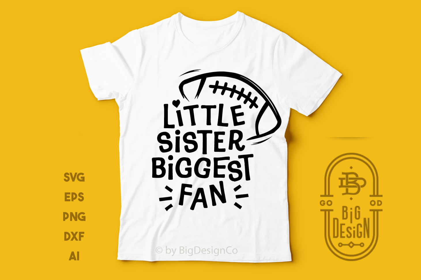 Football SVG - Little sister biggest fan svg saying example image 4