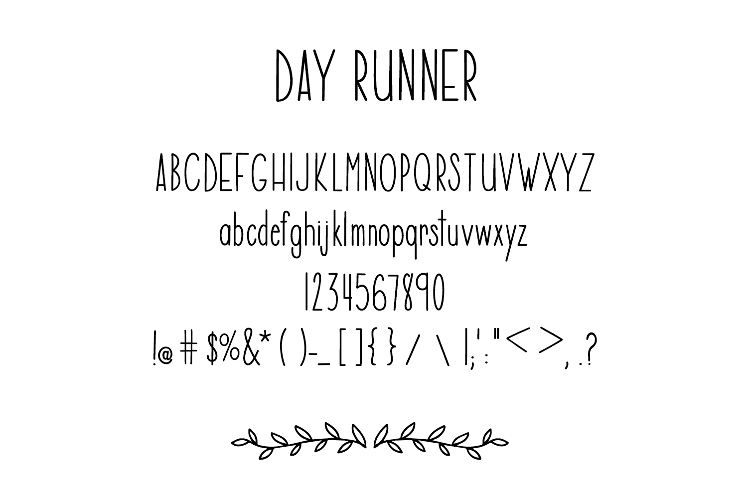 Day Runner Font - a tall, skinny, handwritten font example image 2
