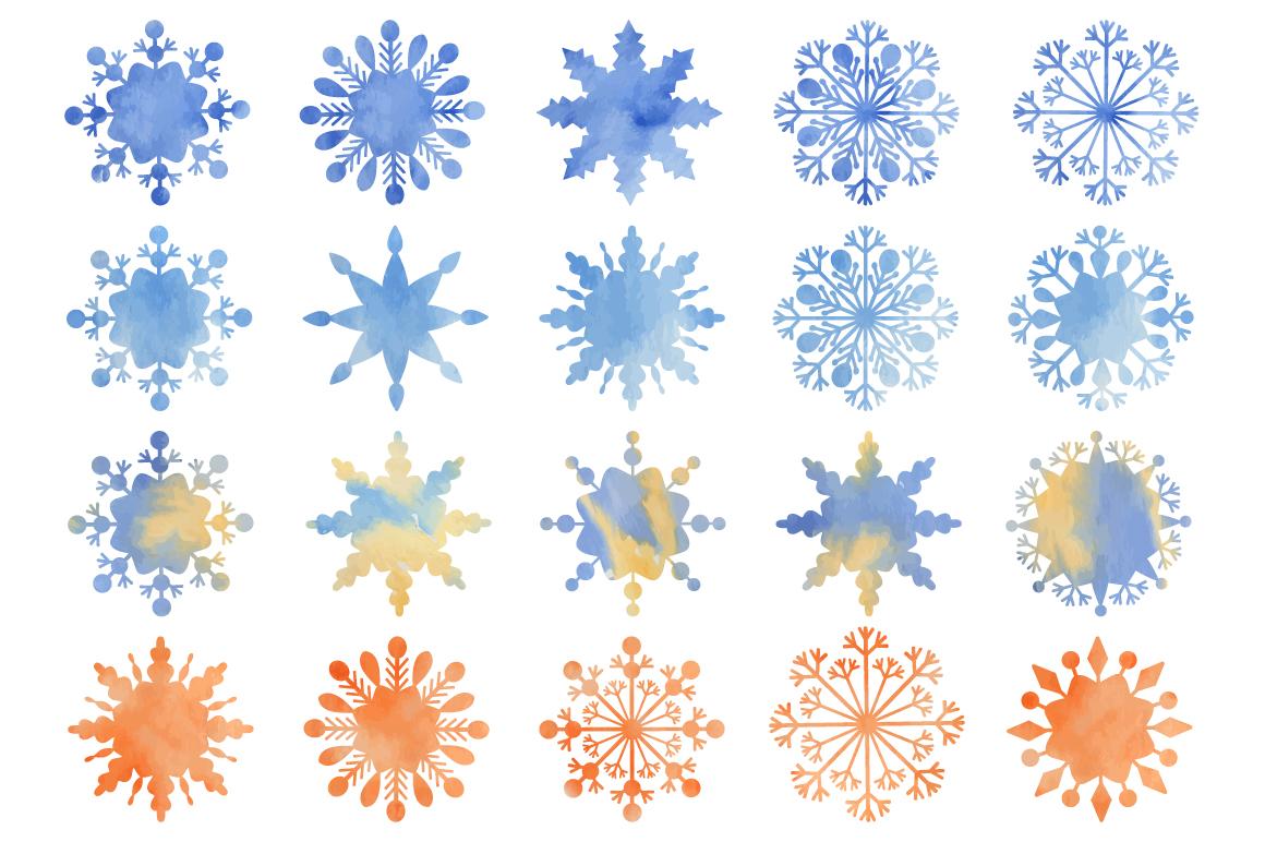 Christmas fantasy. Set snowflakes. example image 3