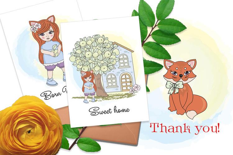 FOX FAIRY TALE Cartoon Color Vector Illustration Set example image 4