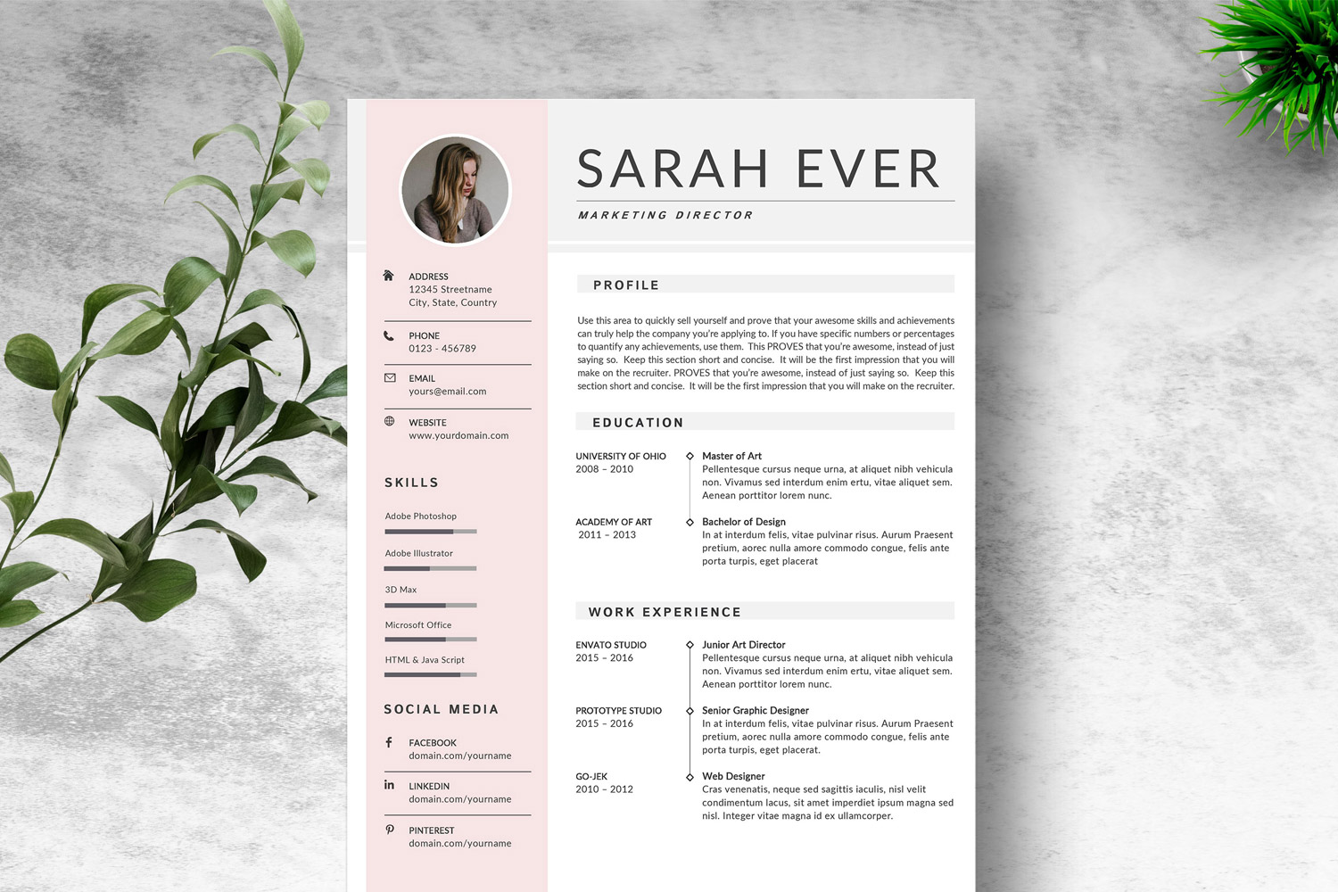 Modern Simple Resume Template Microsoft Word Amp Google Docs