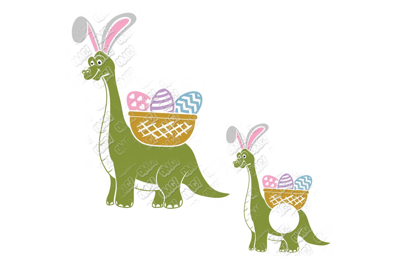 Dinosaur Easter SVG Basket in SVG, DXF, PNG, EPS, JPEG example image 4