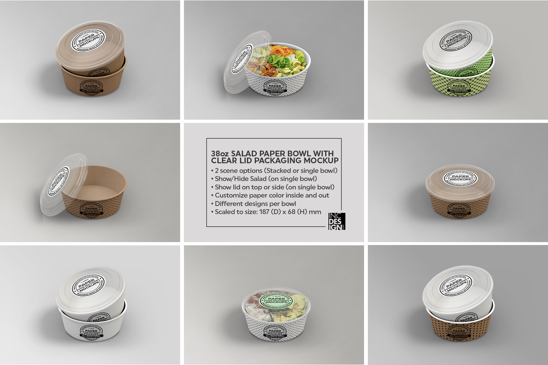 VOL.12 Food Box Packaging MockUps example image 5