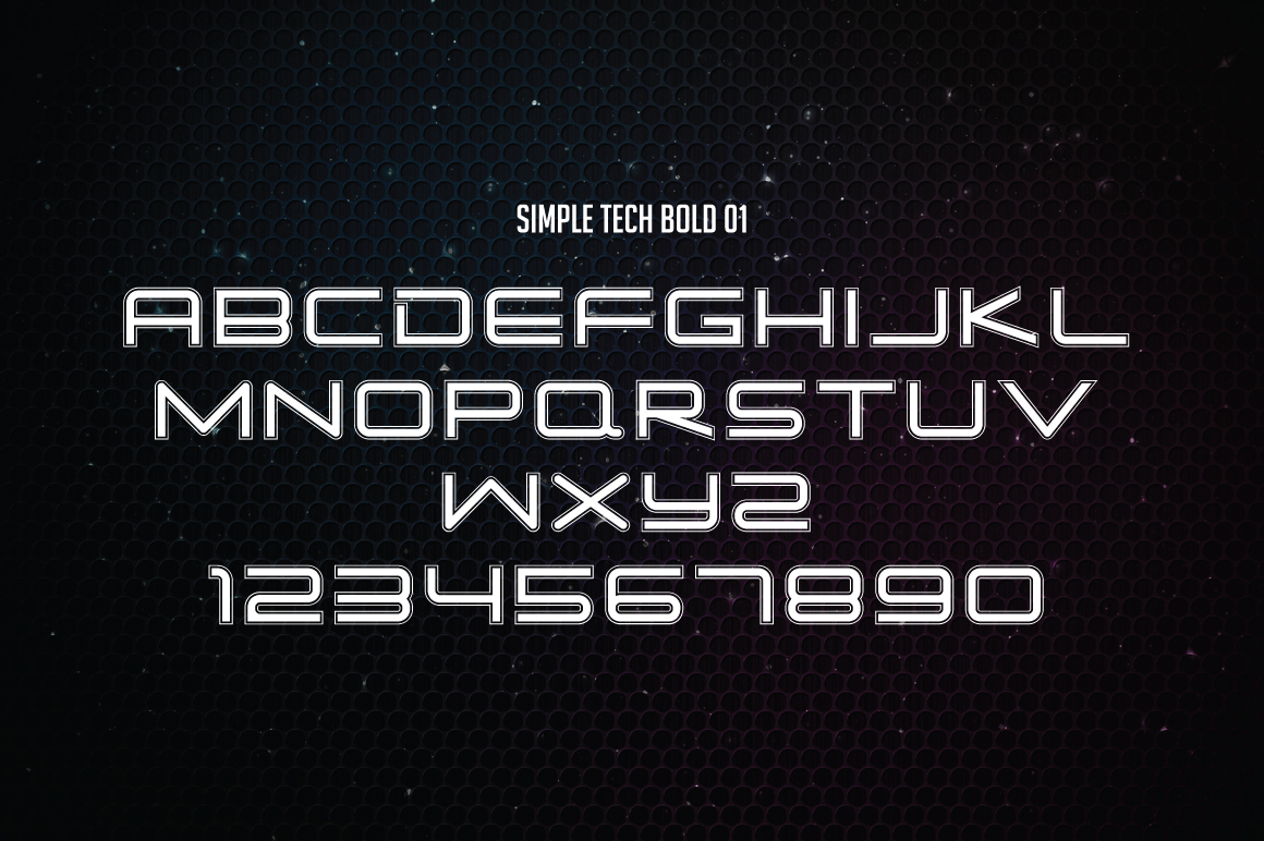 Simple Tech Typeface - 5 Style example image 9