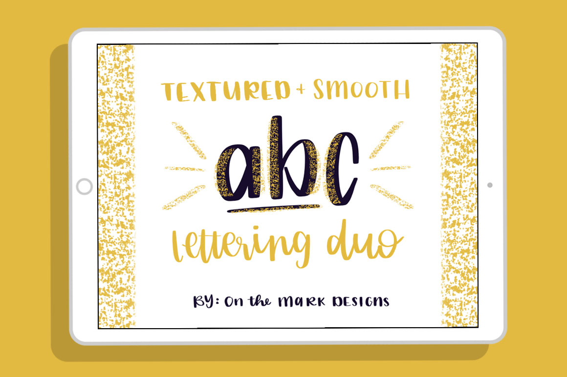 Textured & Smooth Lettering Duo Procreate Brushes example image 1