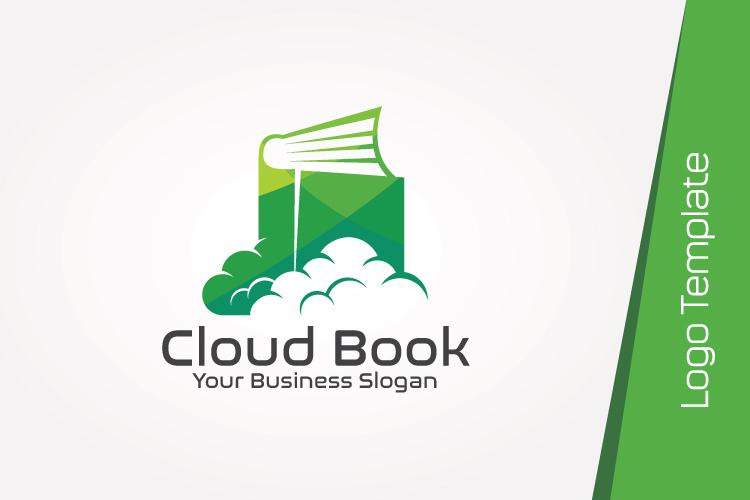 Cloud Book Logo Template example image 3