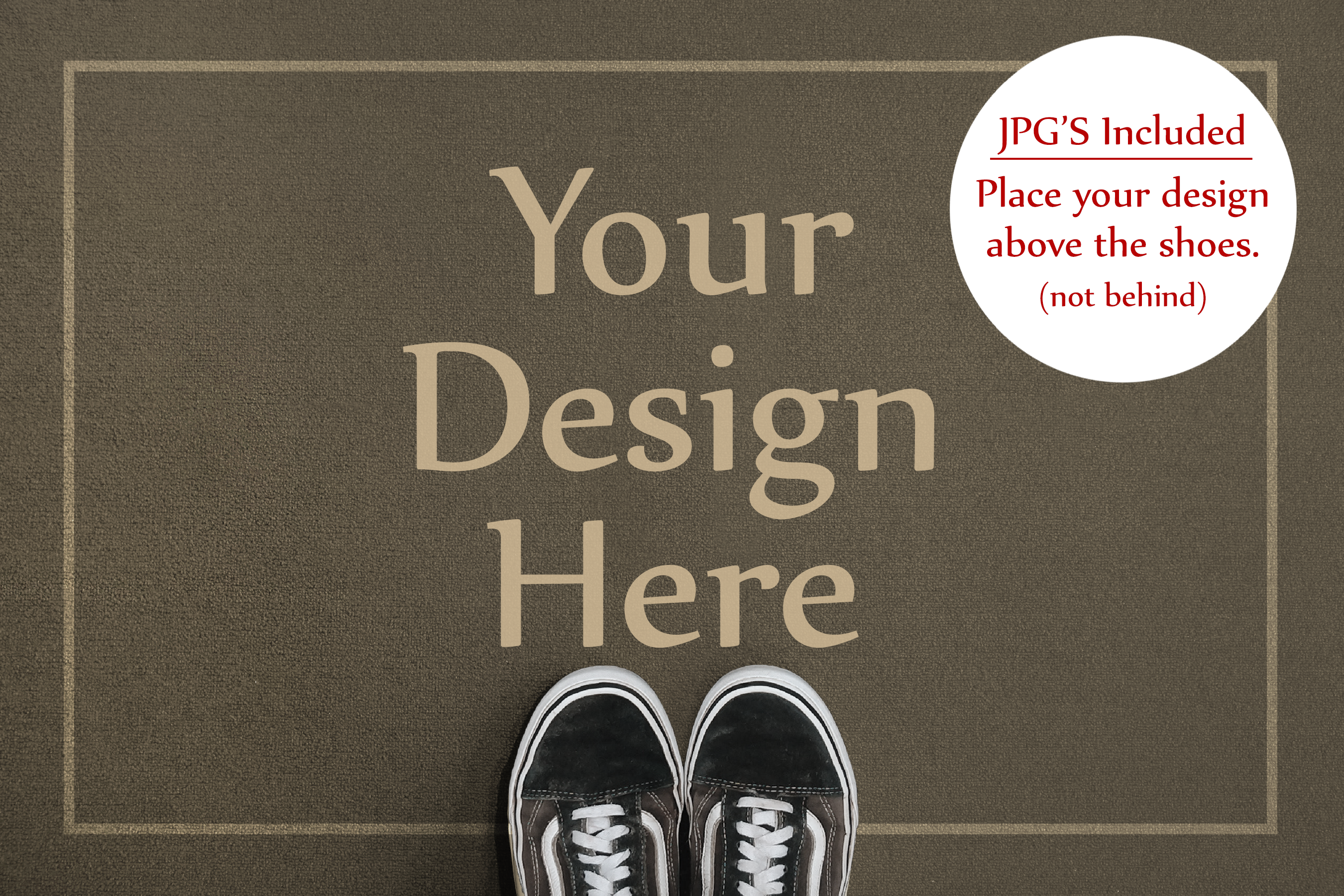 Doormat Mockup, Welcome Mat Mock Up, PSD, Smart Object & JPG example image 2