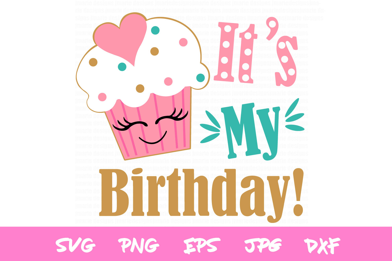 Birthday SVG, girls birthday cut file, silhouette, cricut example image 2