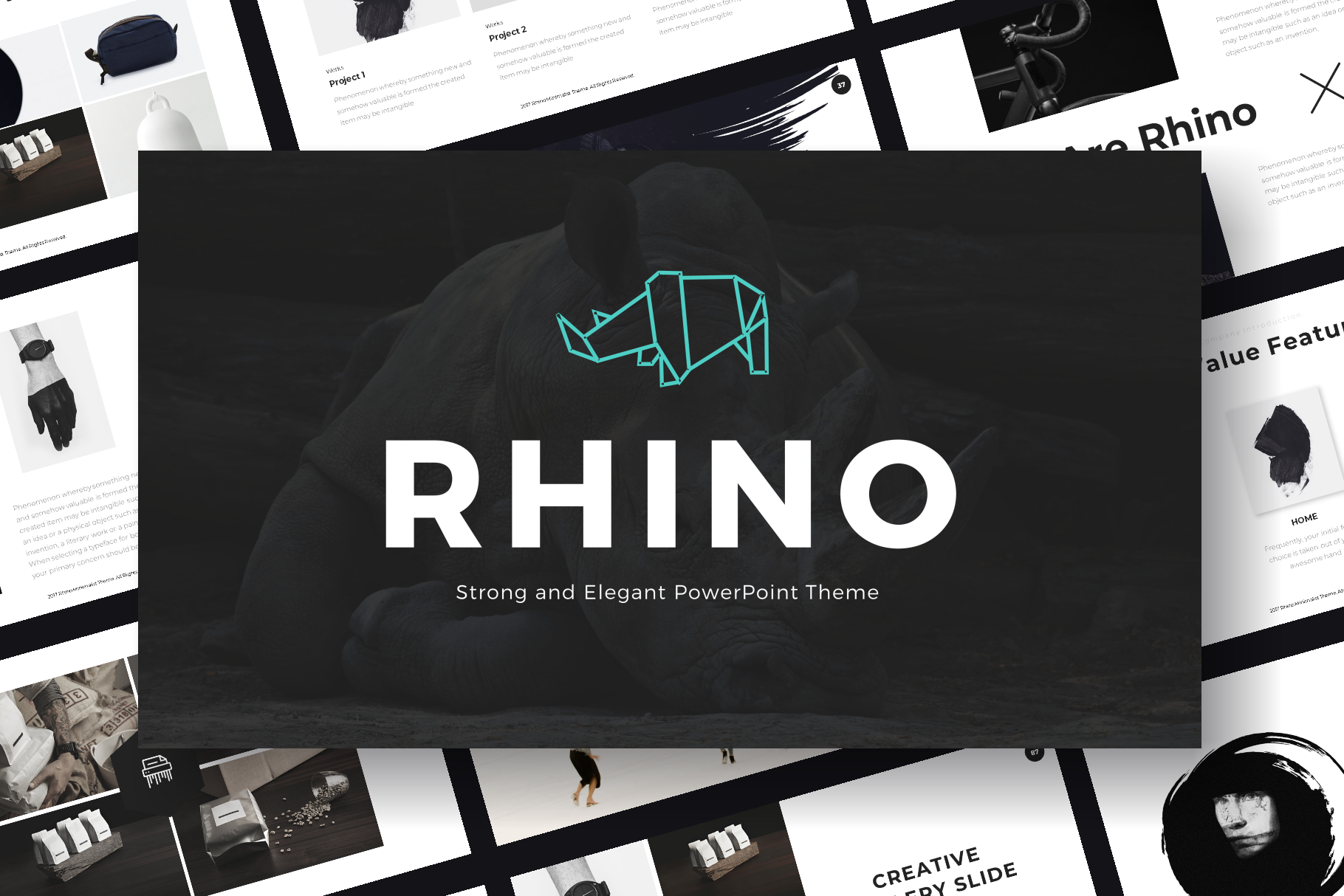 Rhino PowerPoint Template example image 1